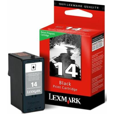 Lexmark Nr.14 (18C2090B) eredeti fekete tintapatron, ~175 oldal