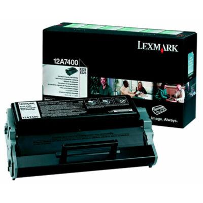 Lexmark E321 fekete eredeti toner 3K (12A7400) (≈3000 oldal)