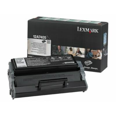 Lexmark E321 fekete eredeti toner 6K (12A7405) (≈6000 oldal)