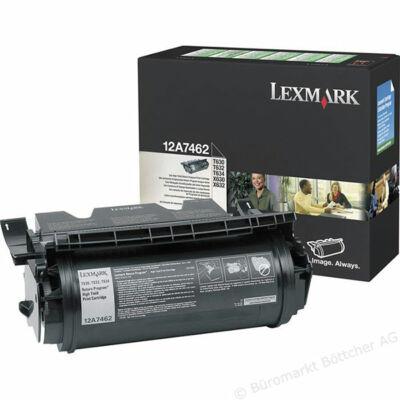 Lexmark T630 fekete eredeti toner 21K (12A7462) (≈21000 oldal)