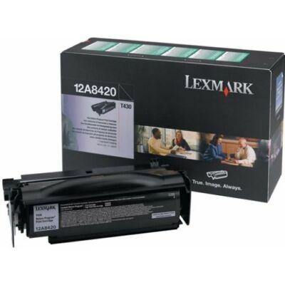 Lexmark T430 fekete eredeti toner 6K (12A8420) (≈6000 oldal)