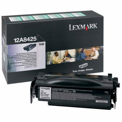 Lexmark T430 fekete eredeti toner 12K (12A8425) (≈12000 oldal)