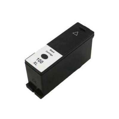 Lexmark -hoz Nr.100XL (14N1068B/14N0820) utángyártott fekete tintapatron, ~510 oldal
