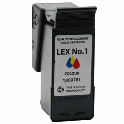 Lexmark -hoz Nr.1 (18CX781) utángyártott színes tintapatron, ~200 oldal
