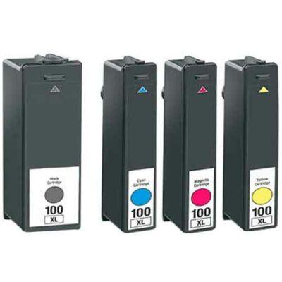 Lexmark -hoz Nr.100XL utángyártott tintapatron pakk (minden szín), ~2310 oldal