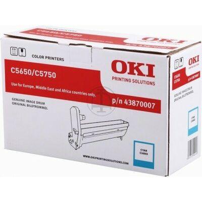 OKI C5650 eredeti cián dobegység (43870007) (≈20000 oldal)