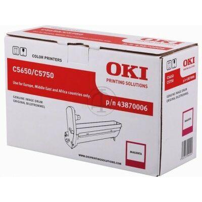 OKI C5650 eredeti magenta dobegység (43870006) (≈20000 oldal)