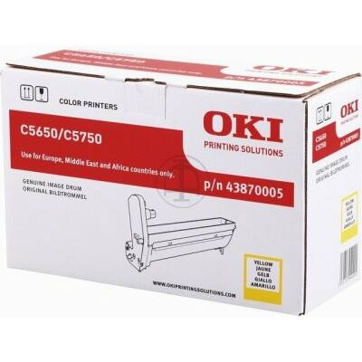 OKI C5650 eredeti sárga dobegység (43870005) (≈20000 oldal)