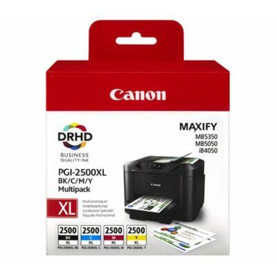 Canon® PGI-2500BCMY XL eredeti (fekete-cián-magenta-sárga) tintapatron multipakk, ~2500/3x1500 oldal (pgi2500xl)