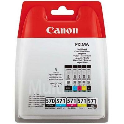 Canon® PGI-570/CLI-571 eredeti 5db-os tintapatron multipakk, ~1674 oldal*