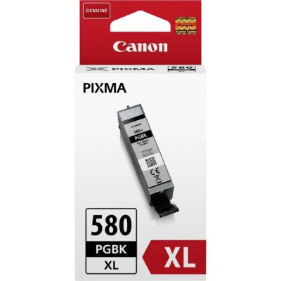 Canon PGI-580PGBK XL eredeti pigmentfekete tintapatron, ~400 oldal (vastag fekete)