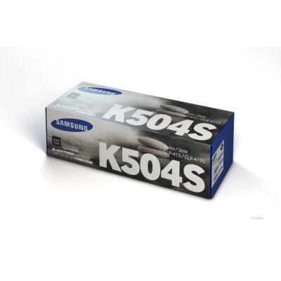 Samsung CLP415 fekete eredeti toner 2,5K (CLT-K504S/SU158A) (≈2500 oldal)