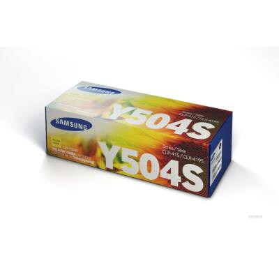 Samsung CLP415 sárga eredeti toner 1,8K (CLT-Y504S/SU502A) (≈1800 oldal)