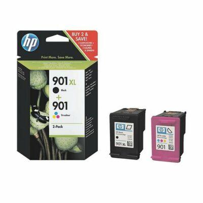 HP Nr.901XL fekete + Nr.901 színes eredeti tintapatron multipakk (SD519AE), ~1060 oldal