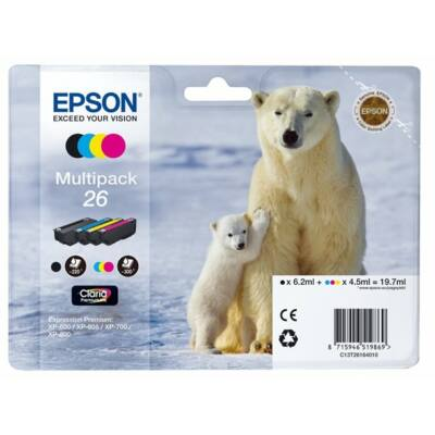 Epson Nr.26 (T26164010) eredeti tintapatron multipakk, ~1120 oldal