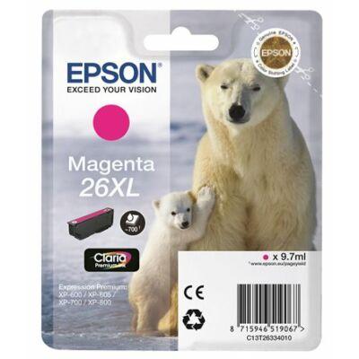 Epson T26334012 (26XL) eredeti magenta tintapatron (≈700oldal)