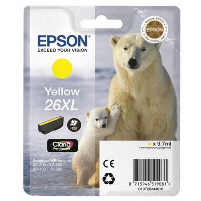 Epson T26344012 (26XL) eredeti sárga tintapatron (≈700oldal)