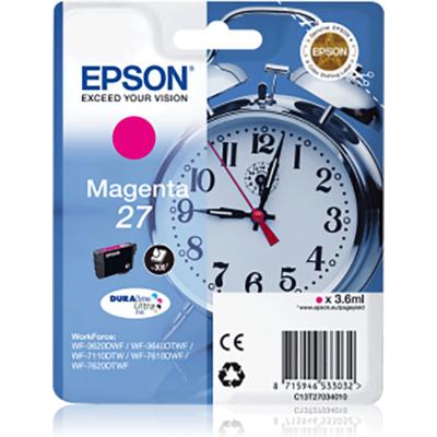 Epson T2703 (Nr. 27) magenta eredeti tintapatron (≈300oldal)