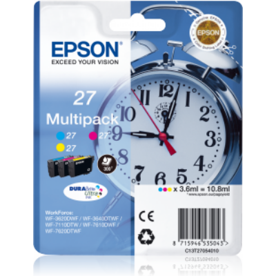 Epson T2705 (Nr. 27) eredeti tintapatron multipakk (CMY) (≈300oldal)