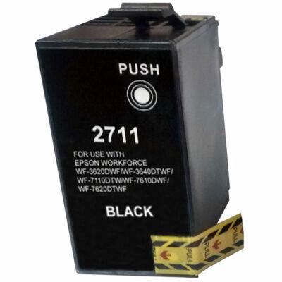 Epson -hoz T2711 (Nr.27XL) fekete utángyártott tintapatron, ~1100 oldal