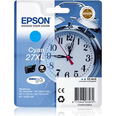 Epson T2712 (Nr. 27XL) cián eredeti tintapatron (≈1100oldal)