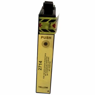 Epson -hoz T2714 (Nr.27XL) sárga utángyártott tintapatron, ~1100 oldal