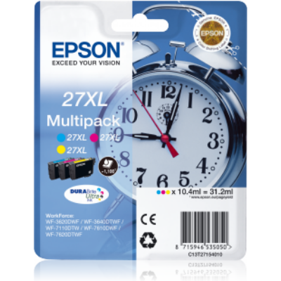 Epson T2715 (Nr. 27XL) eredeti tintapatron multipakk (CMY) (≈1100oldal)