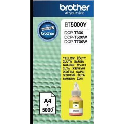 Brother BT5000Y sárga eredeti  tinta DCP-T300/T500W/T700W/MFC-T800W nyomtatókhoz