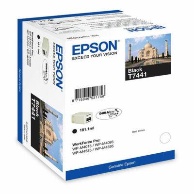 Epson T7441 eredeti fekete tintapatron, ~10000 oldal