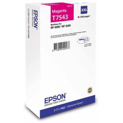 Epson T7543 eredeti magenta tintapatron, ~7000 oldal