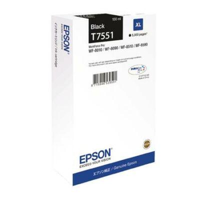 Epson T7551 eredeti fekete tintapatron, ~5000 oldal