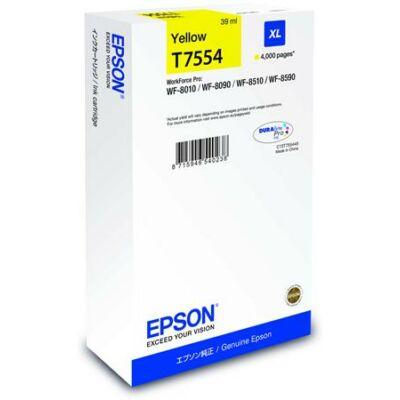 Epson T7554 eredeti sárga tintapatron, ~4000 oldal
