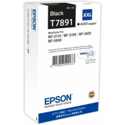 Epson T7891 XXL fekete eredeti tintapatron 4K (≈4000oldal)