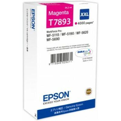 Epson T7893 XXL magenta eredeti tintapatron 4K (≈4000oldal)