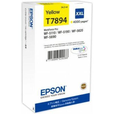 Epson T7894 XXL sárga eredeti tintapatron 4K (≈4000oldal)