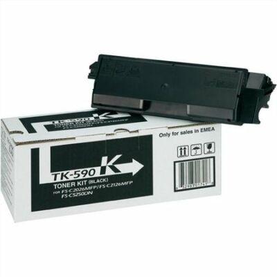 Kyocera TK-590K eredeti fekete toner, ~7000 oldal